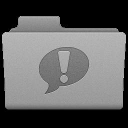 Grey iChat Folder Icon 256x256 png