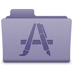 Purple Applications Folder Icon 256x256 png