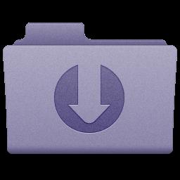 Purple Downloads Folder Icon 256x256 png