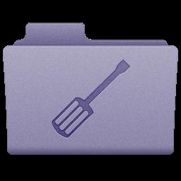 Purple Utilities Folder Icon 256x256 png