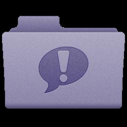 Purple iChat Folder Icon 256x256 png