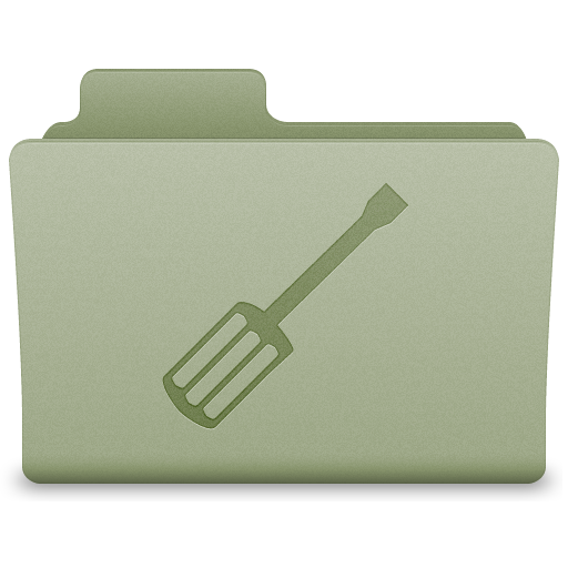 Green Utilities Folder Icon 512x512 png