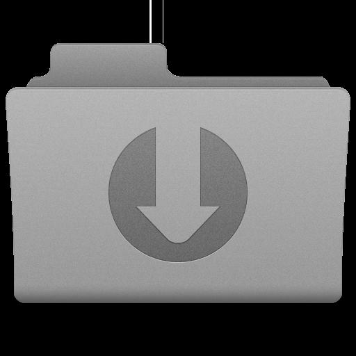 Grey Downloads Folder Icon 512x512 png