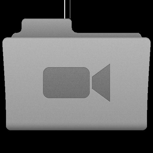 Grey Movies Folder Icon 512x512 png