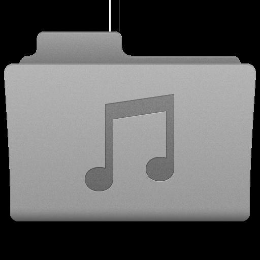 Grey Music Folder Icon 512x512 png