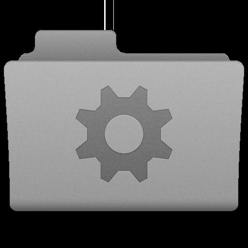 Grey Smart Folder Icon 512x512 png