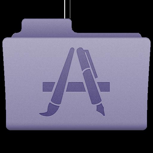 Purple Applications Folder Icon 512x512 png