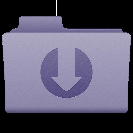 Purple Downloads Folder Icon 512x512 png