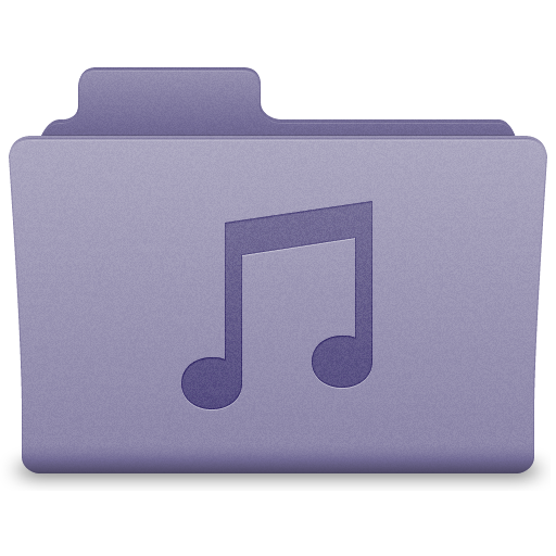Purple Music Folder Icon 512x512 png