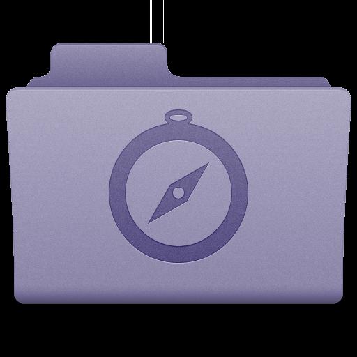 Purple Sites Folder Icon 512x512 png
