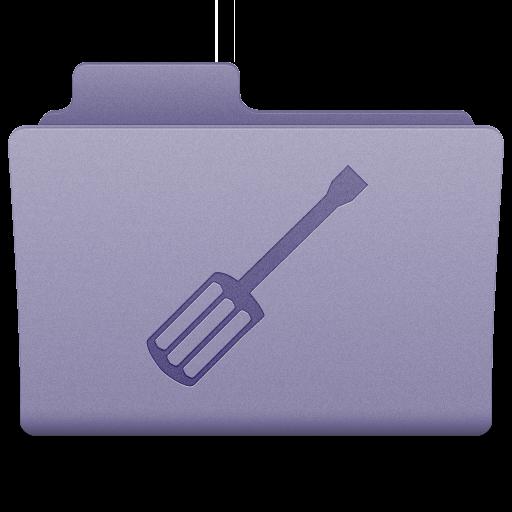 Purple Utilities Folder Icon 512x512 png
