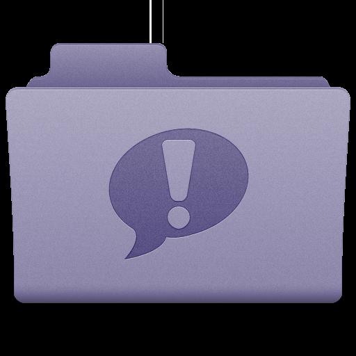 Purple iChat Folder Icon 512x512 png