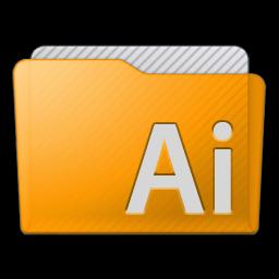 Folder Illustrator Icon 256x256 png