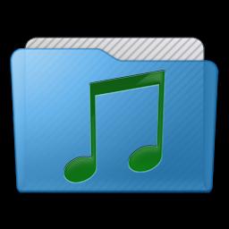 Folder Music Icon 256x256 png