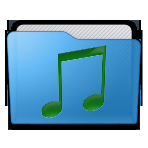Folder Music Icon 512x512 png