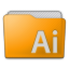 Folder Illustrator Icon 64x64 png