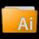Folder Illustrator Icon 80x80 png