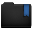 Ribbon Blue Folder Icon 128x128 png