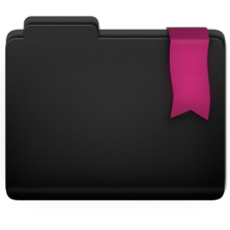 Ribbon Pink Folder Icon 256x256 png