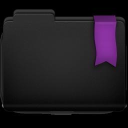 Ribbon Purple Folder Icon 256x256 png
