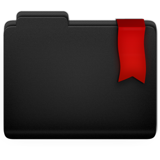 Ribbon Folder Icon 512x512 png