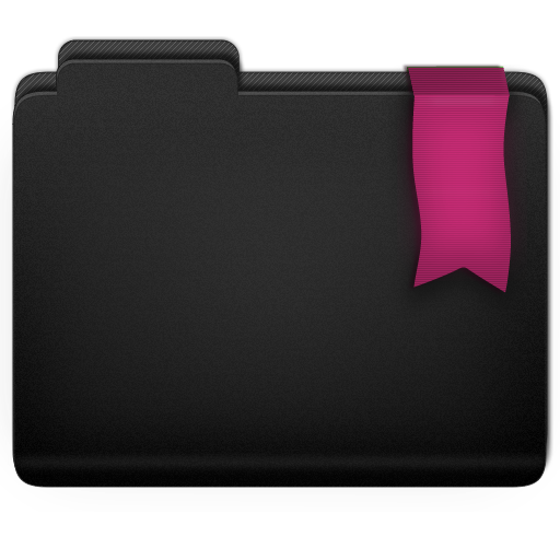 Ribbon Pink Folder Icon 512x512 png