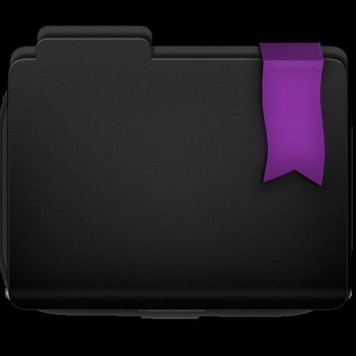 Ribbon Purple Folder Icon 512x512 png