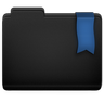 Ribbon Blue Folder Icon 96x96 png