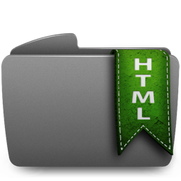Folder HTML Icon 256x256 png