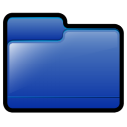 Generic Folder Blue Icon 256x256 png