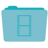 Movies Folder Icon 96x96 png