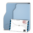 Aqua Terra Mail Icon 128x128 png