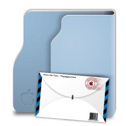 Aqua Terra Mail Icon 256x256 png