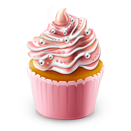 Cupcake Colored Icon 256x256 png