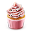 Cupcake Colored Icon 32x32 png