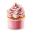 Cupcake Colored Icon 64x64 png