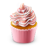 Cupcake Colored Icon 96x96 png