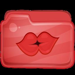 Folder Ballon Kiss Icon 256x256 png