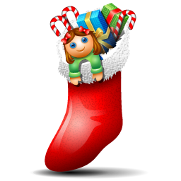 Socks with Christmas Things Inside Icon 256x256 png