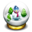 Glass Snow Ball Icon 64x64 png