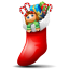 Socks with Christmas Things Inside Icon 64x64 png