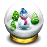 Glass Snow Ball Icon 96x96 png