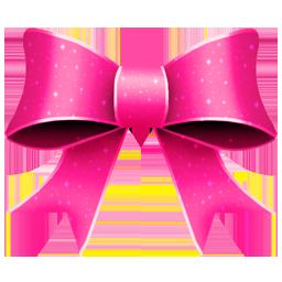 Ribbon Pink Pattern Icon 256x256 png