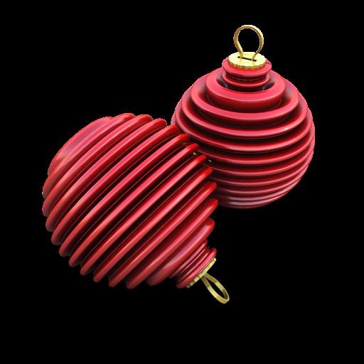 Xmas Ringed Balls Icon 512x512 png