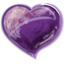 Heart Violet Icon 128x128 png