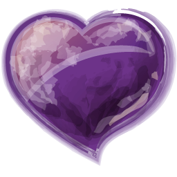 Heart Violet Icon 256x256 png