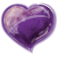 Heart Violet Icon 64x64 png