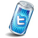 Soda Twitter Icon 128x128 png