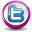 Twitter Pink Button Icon 32x32 png
