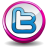 Twitter Pink Button Icon 48x48 png